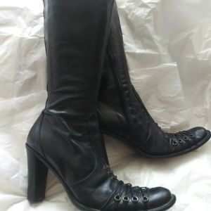 Aldo Made in Italy Mid calf Leather heel boots
